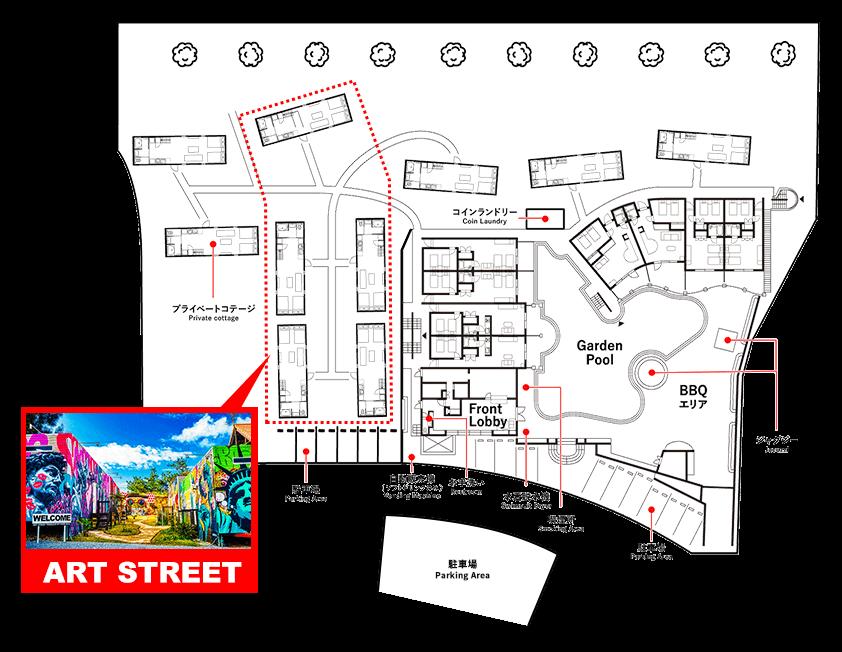 ART STREET エリアマップ